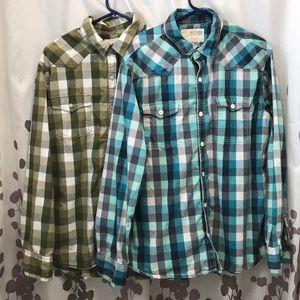Two Urban Pipeline shirts